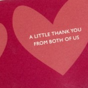 a little thank you from both of us text on soap
