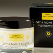 Day and night cream in glass jar